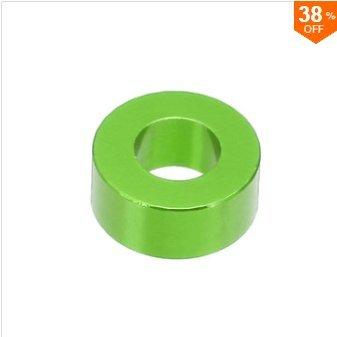 EsportsMJJ M3An3 10St M3 Verdickung Flachdichtung Unterlegscheibe Abstandshalter Mehrfarbige Aluminiumlegierung - Grün -