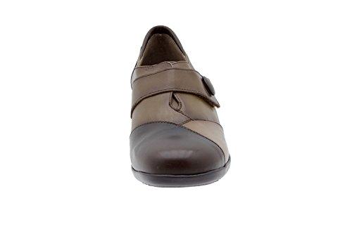 Chaussure femme confort en cuir Piesanto 3984 casual comfortables amples Caoba