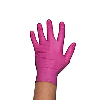 Pink Allogena R Collagen and Silicone Gloves Mounting Gloves Protective Nitrile Powder Free Gloves Size S 100pcs