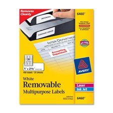 Avery - Laser/Inkjet Labels,Removable, 1/2