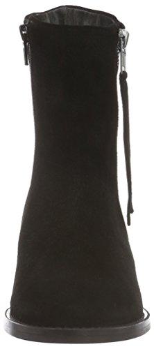 Bianco Mid Cut Suede Boot Son16, Stivali corti Donna Nero (Black/10)