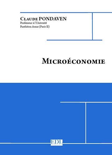 Microéconomie par Claude Pondaven
