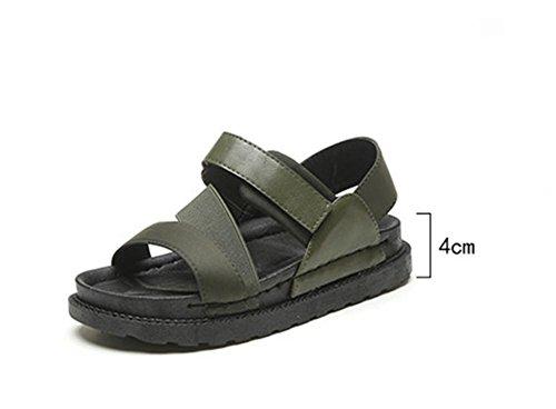 pengweiSandales plates d'¨¦t¨¦ dames ¨¦paisseur des sandales aux pieds expos¨¦s 2