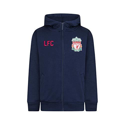 Liverpool FC - Sudadera oficial con capucha y cierre de cremallera - Para hombre - Forro polar - Large