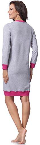 Italian Fashion IF Camicie da Notte per Donna Cheerful 0111 Mélange/Rosa