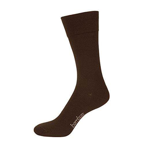 NUR DER 3 Paar Herren Bambus Komfort Socke Viskose (aus Bambus-Zellstoff) (43-46, braun)