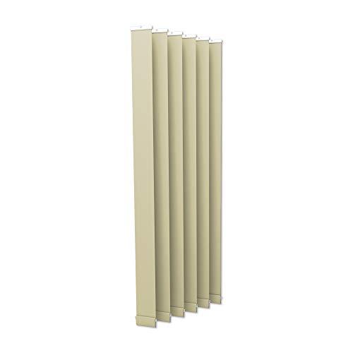 Victoria m. tenda a lamelle verticali isabella - forma a i, leggermente trasparente - 12,7 x 250 cm, beige | pacco da 6