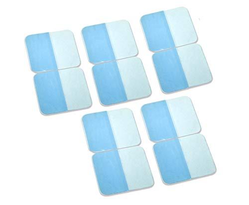 Promed selbstklebende Gel Pads für Carbon Dauerelektroden,  40 x 40 mm, 10 Stück, Gel-Pads für Dauerelektroden TENS EMS Reizstromgeräte, elektrische Muskelstimulation, wiederverwendbar -