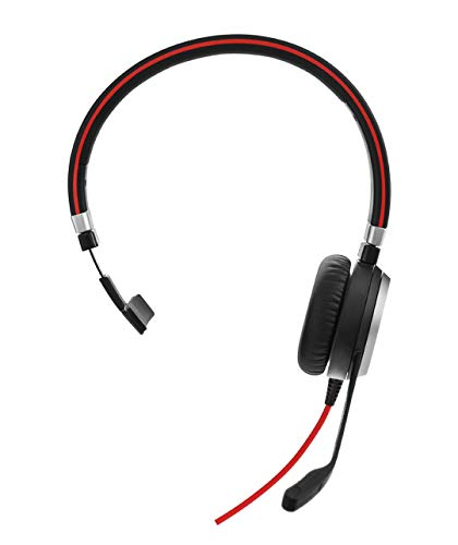 Jabra Evolve 40 MS Mono-Kabel-Headset mit USB und Klinkenstecker für PC/Laptop/Smartphone/Tablet, Busylight, für Skype for Business