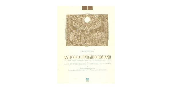 Calendario Antico.Amazon It Antico Calendario Romano Dionysus Petavius M
