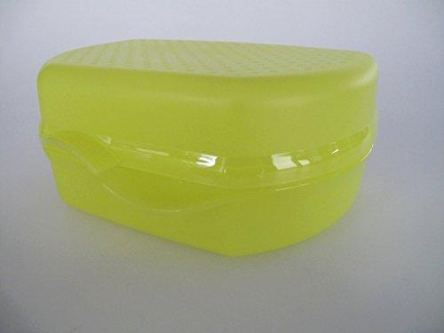 TUPPERWARE Sandwichera 2 en 1 negro verde amarillo
