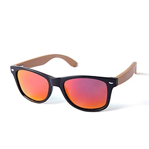 FYrainbow Unisex Holz/Bambus Sonnenbrille, Europa und Amerika Retro Exklusive polarisierte Sonnenbrille aus Holz für Damen und Herren TAC Linse UV400,H
