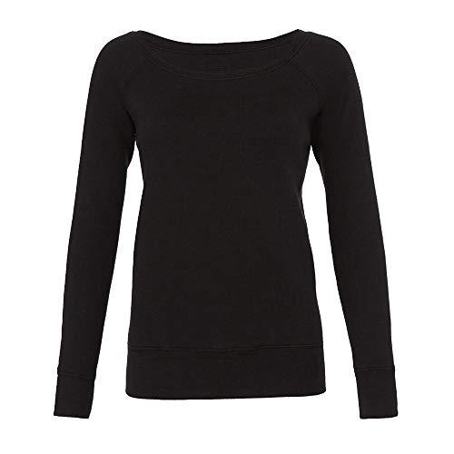 Bella - Mia Slouchy Wideneck Sweatshirt / Solid Black, XL XL,Solid Black Triblend