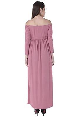 773fc513556fd MomToBe® Women's Long Off Shoulder Maternity Dress Flamingo Pink