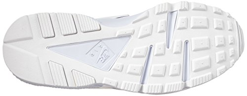 Nike Air Huarache, Baskets Basses Homme, Gris, 41 EU Blanco / Plateado (White / White-Pure Platinum)