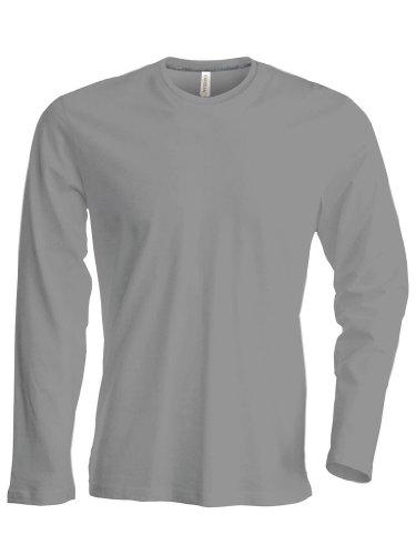 Figurbetontes Langarm T-Shirt Navy