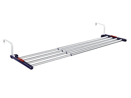 Leifheit Quartett 42 - Tendedero Colgantes para radiador de Acero Inoxidable, 61.4x3.9x27.9...