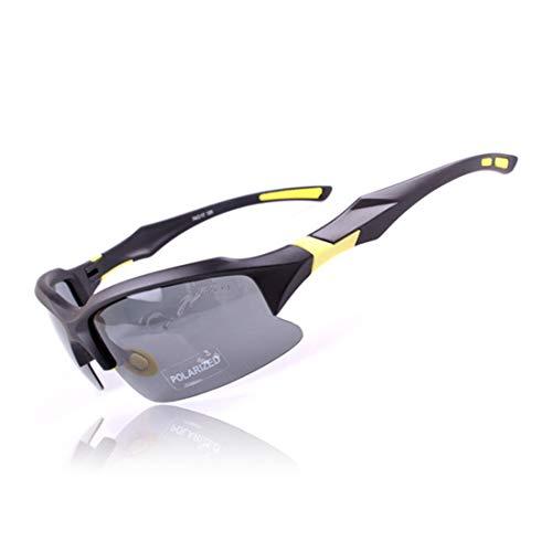 Retro Vintage Sonnenbrille, für Frauen und Männer Klassische PC polarisierte Sport-Sonnenbrille für Frauen-Männer im Freien, die das Radfahren Anti-UV rutschfeste randlose Fahren (Farbe : A002)
