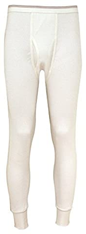 Indera Mills 100% Cotton Heavy Weight Thermal Pant - Natural (M) by Indera Mills