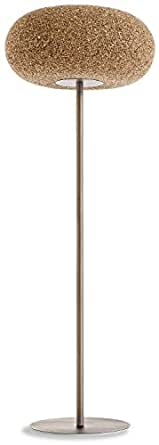 Greencorks, HOME LAMP da terra; 60 X 171 H cm della Collezione LAMP. LAMPADA a PIANTANA in sughero e corpo lampada a led incluso. LAMPADA da pavimento per Interni. Variante in SUGHERO BIONDO.
