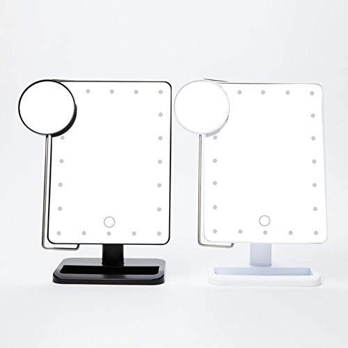 RATWIFE LED Spiegel quadratischen Tisch Kosmetikspiegel mit leichtes Make-up Spiegel Spiegel...