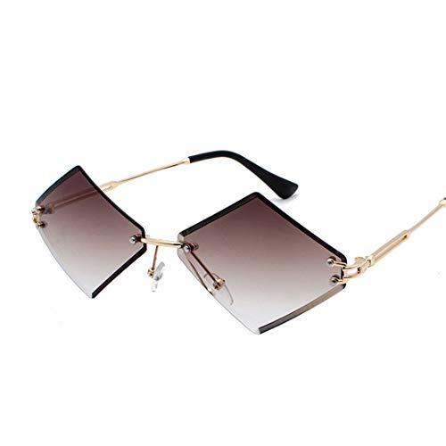 DAIYSNAFDN Sonnenbrillen mit kleinem Rahmen und Sonnenbrille für Frauen Doubletea