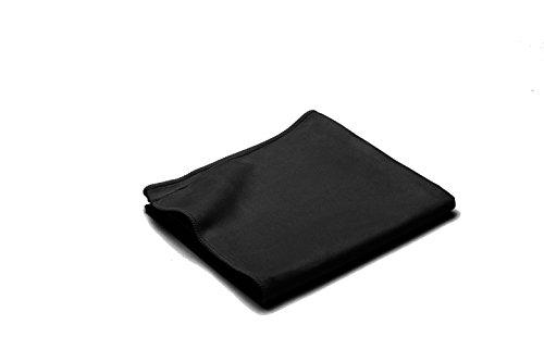 Dream Art Microline Handtuch, Badetuch, Reisehandtuch aus schnelltrocknenden Mikrofasern, inkl. Netztasche, 3450 Fb. 1, schwarz, 40 x 80 cm