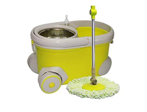 ZHZ Wischmops Rotary-Mopp-Eimer Mop trockenes Schlepptau-Mop-Mop-Eimer Holzboden guter Gott Reinigungswerkzeug (Farbe : #1) (Trocken Mops Für Holzböden)