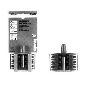 KWB Handy Bit-Box Standard, 7-teilig, 1522-00 (Tool Steel Box Rot)