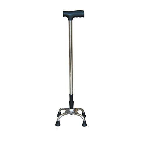 Scj bastone di sollevamento regolabile a quattro piedi, canna d'acciaio inossidabile per anziani, facile da usare/resistente all'usura antiscivolo/liscio e sicuro - 68-86 cm