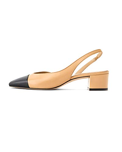 f99196af2aa59 Uterque Women Leather Mules with Contrast Toe 5064/051 (38 EU | 7.5 US | 5  UK)
