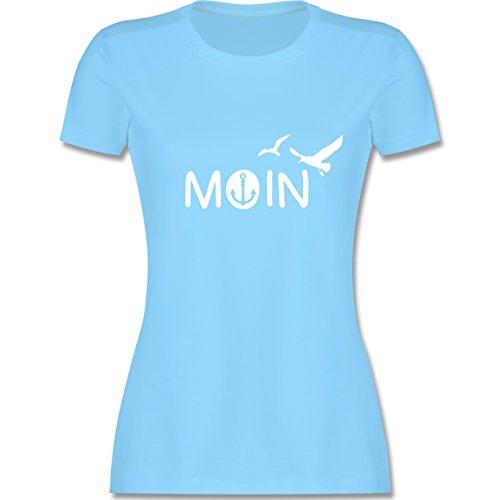 Statement Shirts - Moin - S - Hellblau - L191 - Damen T-Shirt Rundhals