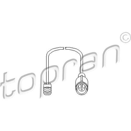 TOPRAN Sensor für Bremsbelagverschleiß, 500 662
