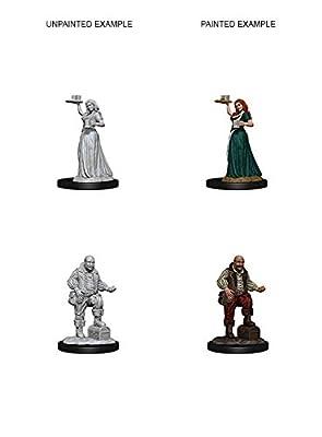 Merchants (Serving Girl and Merchant): Pathfinder Deep Cuts Unpainted Miniatures