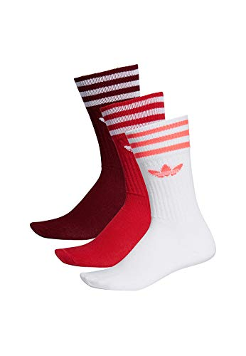 adidas Solid Crew 3 Pack, Socks Herren 2XL Collegiate Burgundy/Scarlet/White