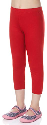 (Merry Style Mädchen Leggings 3/4 MS10-131 (Rot, 134))