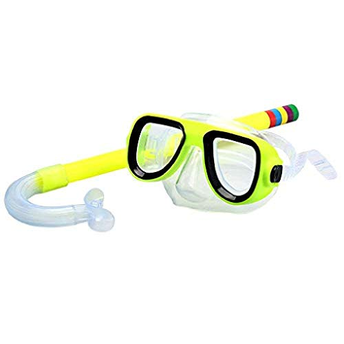 fyhtydsr Schwimmbrille Professionelle Kinder Einstellbar Tauchen Schnorcheln Schwimmbrille Tauchen Volltrocken Schnorchel Und Maske Glaslinse PVC