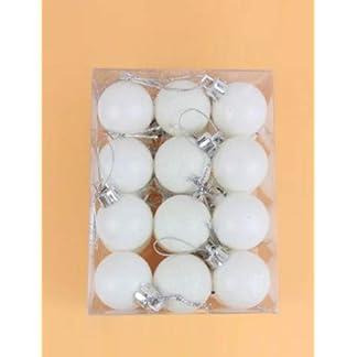 Hemore 4 cm de Navidad Bola Blanca 24 PCS