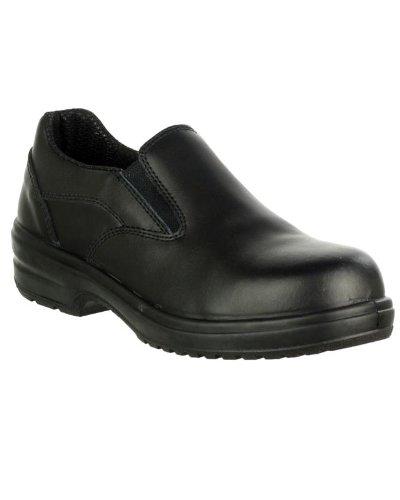 Amblers-Safety FS94C Glisser sur de dames Chaussures Femmes Steel Orteil cuir Black