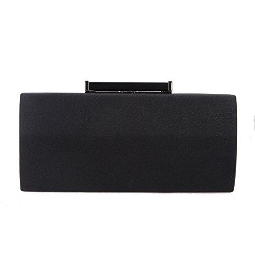 c9f62ac7c9 Bonjanvye Polygon PU Leather Purse and Handbag for Women Evening Bag Clutch  Black
