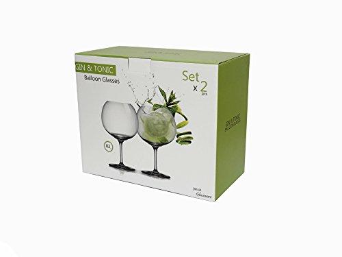 Elegantes copas de balón de cristal de Bohemia transparentes para Gin