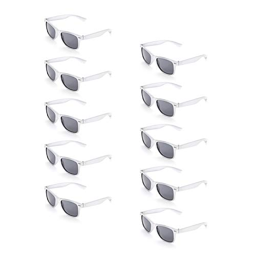 ONNEA 10 Paare Party Favors Sonnenbrille Set Sommer Kinder Damen (Silber 10-Pack)