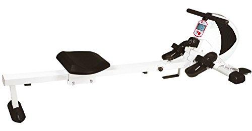 AsVIVA Rudergerät  RA8 weiß Magnetbremse mit 8 Widerstandsstufen, inkl. Pulsempfänger für optionale Brustgurte ( Pulsgurt ) natürlich klappbar, Heimtrainer Rower