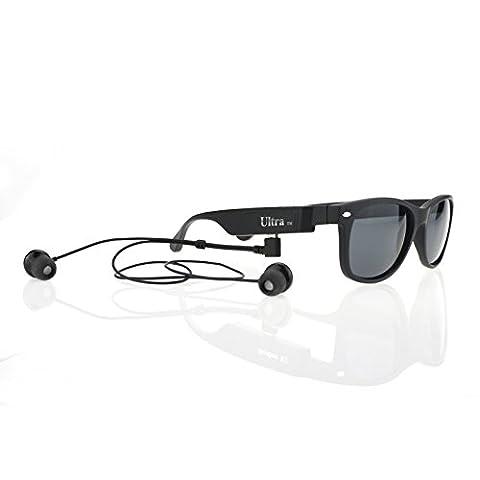 Lunettes de soleil édition K3-P Classic ultra en Style Bluetooth lunettes de Sports avec le soutien de musique stéréo et mains libres parfait pour iOs Android Windows mobile téléphones et appareils Bluetooth
