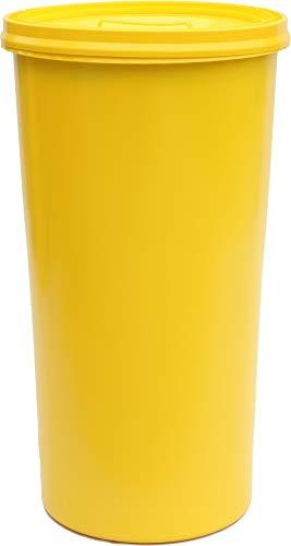 *Gelber Sack – Tonne gelb mit gelbem Deckel – Müllsackständer – Müllständer – Mülleimer – Wertstoffständer – 60 l*
