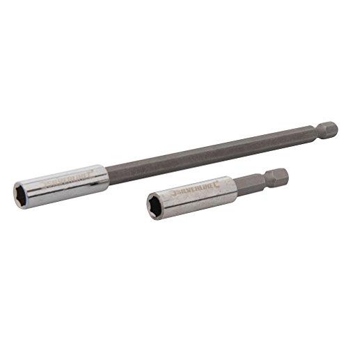 Silverline 436745 Magnetischer Schraubendreher-Bithalter, 2-tlg. Satz 60 u.150 mm