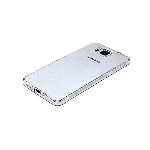 GiXa Technology TPU Silikon Case Ultra Dünn, Elastisch und Rutschfest für Samsung Handy Smartphone. Silikon Schale Schutz Hülle Back Cover Lebenslang Garantie… (Klar / Farblos, für Galaxy Alpha / SM-G für Galaxy Alpha