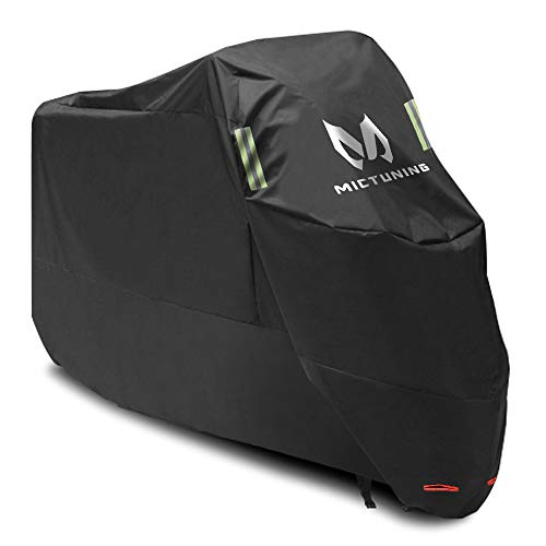 Yamaha Harley ecc. MICTUNING Custodia protettiva impermeabile per moto 210d Oxford antistrappo Anti-UV//Polvere 265/x 105/x 125/cm con foro antifurto per honda Suzuki