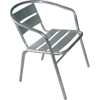 Giardino/Patio poltrona sedia - In alluminio - 53Wx58Dx73, 5Hcm (confezione da 4) - Elegante e resistente mobili per il giardino
