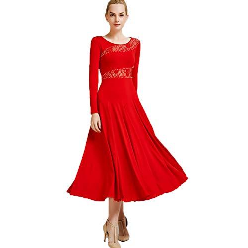 Erwachsene Walzer Ballsaaltanz Kleider Glattes Walzer-Tango-Kleid Tolle